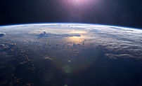 Sunset over the Pacific Ocean as seen from the...