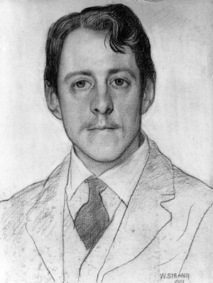 Portrait of Laurence Binyon by William Strang