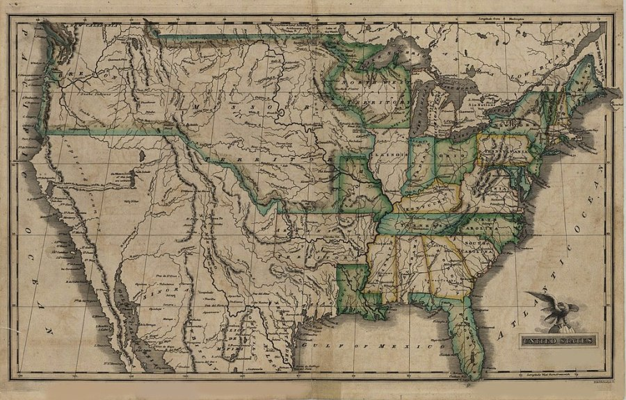 File Map of the United States 1823 jpg   Wikimedia Commons File Map of the United States 1823 jpg