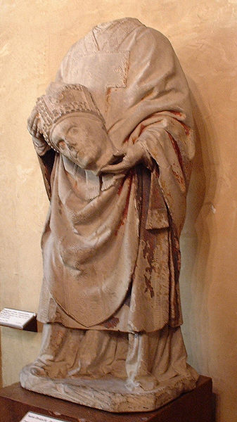 Statue to St. Denis, in Cluny