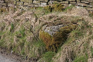 English: Nogworth Cross Shay Lane Base and soc...