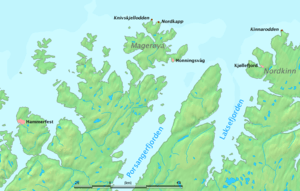 Kinnarodden (on the right) is on mainland, Nor...