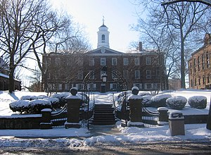 Old Queens, at Rutgers University, on a wintry...