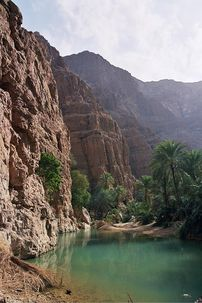 Wadi Shab is the most beautiful Wadi in Oman a...