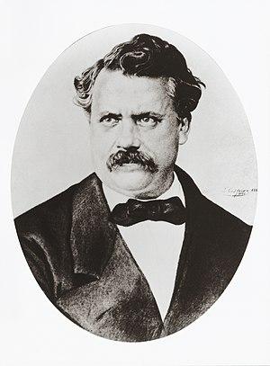 Portrait of Louis Vuitton (1821-1892), founder...
