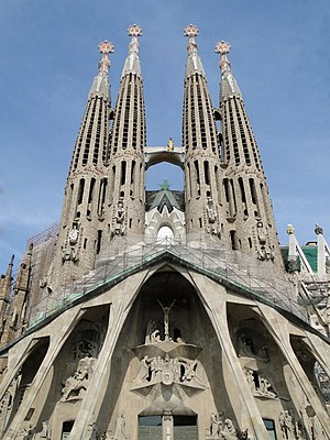 English: The Passion façade of the Sagrada Fam...