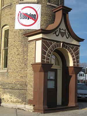 No Bullying sign - School in Racine, Wisconsin