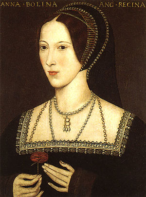 ANNE BOLEYN; original portrait is on display a...