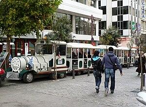 English: Athens wagon for tourists' ride.