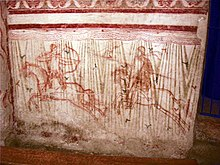 Basilica di aquilieia, cripta, affreschi registro inferiore 03.JPG