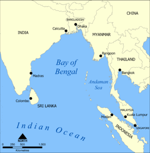 Bay of Bengal - Map of Bay of Bengal