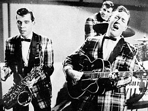 English: Bill Haley and his Comets during a TV...