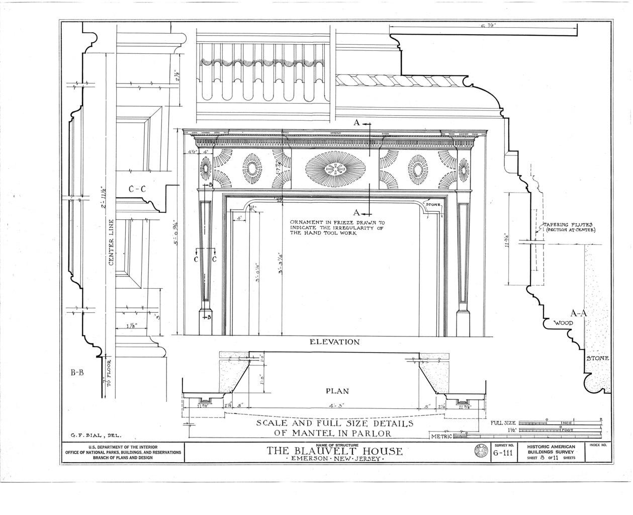 File Blauvelt House Old Hook Road Emerson Bergen County Nj Habs Nj 2 Emso 1 Sheet 8 Of 11