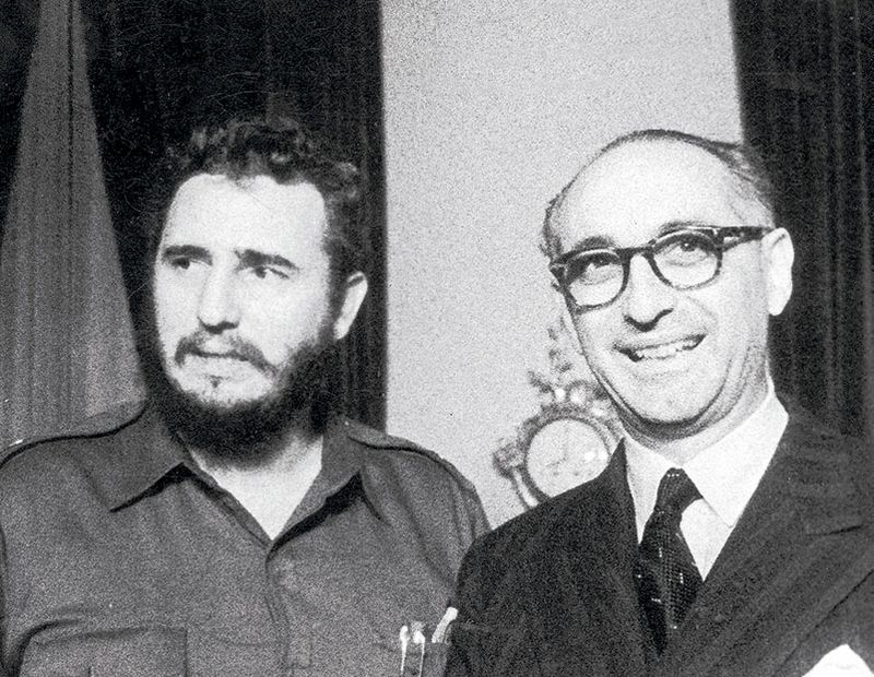 Fidel Castro y Arturo Frondizi