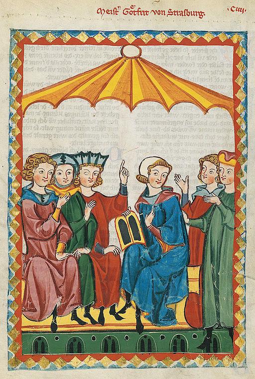Codex Manesse Gottfried von Straßburg
