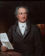 Johann Wolfgang von Goethe at age 69