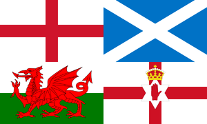 English: Home nations flag of the United Kingd...
