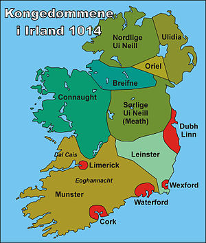 Historisk kart over Ireland 1014 / Historical ...