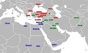 Based on Flavius Josephus' (ca. 100 AD) geogra...