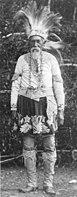 Lester Skeesuk, ein Narraganset-Mohegan in Brothertown, Wisconsin, 1904 aufgenommen.