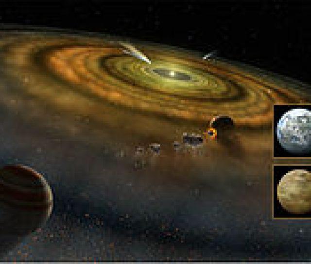 Vue Dartiste De Differents Processus De Formation Des Planetes Autour De Beta Pictoris Incluant Des Exocometes Et Dautres Types De Planetesimaux