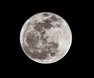 English: A full moon in January 2011
