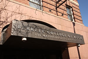 The entrance to a building used by Berklee Col...