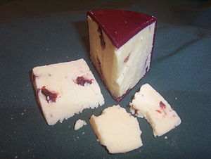 Wensleydale with cranberries cheese made in th...