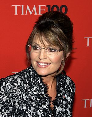 English: Sarah Palin at the Time 100 Gala in M...