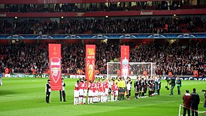 2007-08 Champions League match between Arsenal...