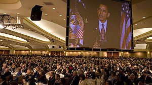 Thousands listen to President Barack Obama's r...