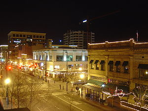 Boise downtown at night