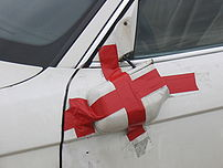 Because of the location, wing mirrors are commonly broken in accidents.