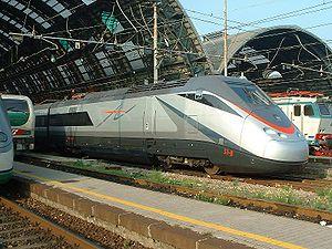 """ETR.500 """"AV"""" at Milano Centrale."""