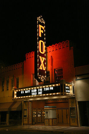The recently restored Fox Theater is in downto...