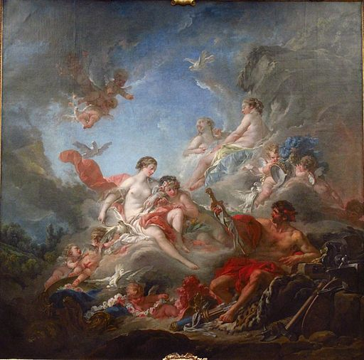 """Vulcan Presenting Venus with Arms for Aeneas"" by François Boucher"