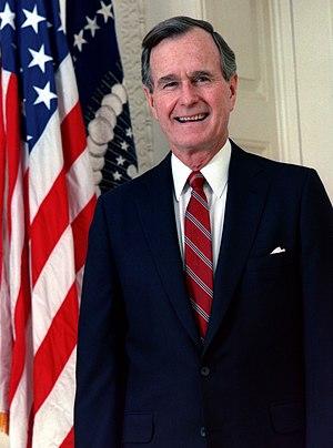 Official portrait of George H. W. Bush, former...