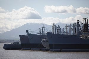 Ghost fleet awaits removal from Suisun Bay.