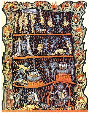 Hell, as illustrated in Hortus deliciarum.