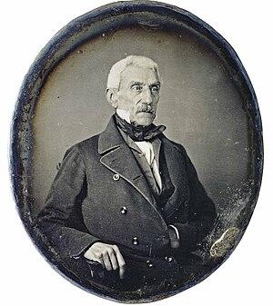 Daguerrotipo de San Martín tomado en París en ...