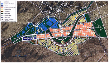 The overall area plan for the reconstruction of Kabul's Old City area, the proposed Kabul - City of Light Development.