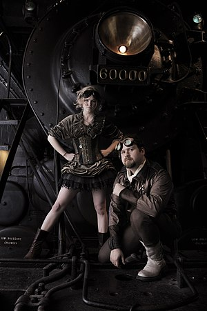 Steampunks - models Liza James and Jared Axelr...