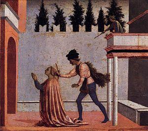 Martyrdom of St Lucy (predella 5)