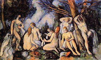 Paul Cezanne Les grandes baigneuses