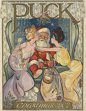 English: Santa Claus as illustrated in , v. 52...