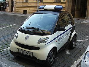 English: Smart(s) vehicles of Municipal Police...