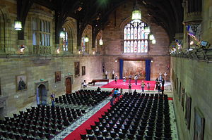 English: Inside the Great Hall at the Universi...