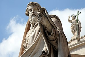 St. Paul statue in front of St. Peters Basilic...