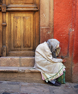Old lady at San Miguel Allende, Guanajuato, Me...