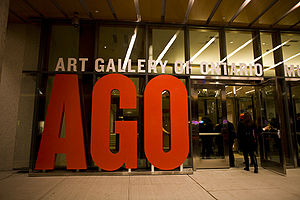 Entrance to the Art Gallery of Ontario, Toront...